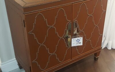 Deco Faux Leather Chest (SKU 101473) – SOLD
