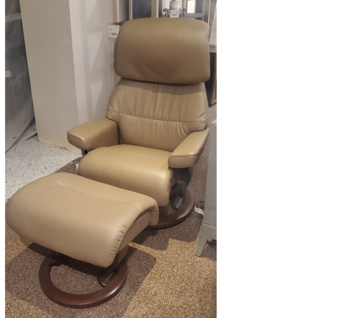 Stressless Chair – Capri Small w/ Ottoman